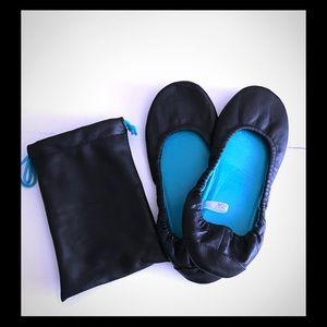 🥿Commuter ballet flats in travel bag, black NEW